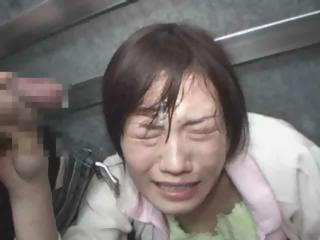 Porn Tube of Asian Groped In The Elevator