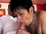 Chubby grandma spoon fucked after oral