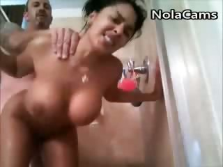 Porno Video of Latina Slut Gets Fucked In Shower
