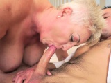 Mature whore gives head