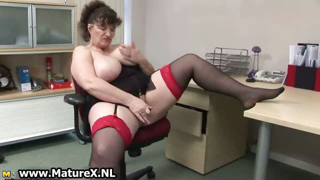 Porn Tube of Horny Fat Mature Lady Fucks