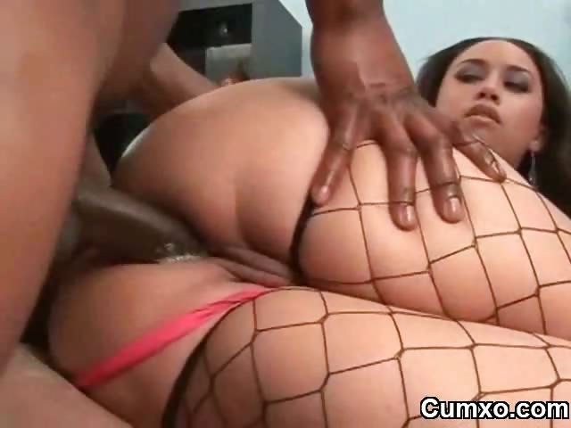 Porno Video of Busty Ebony Anal Creampie With Bbc