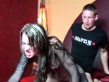 Amsterdam hooker in fishnets gets fucked hard