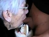 Blowjob blonde granny Jenna