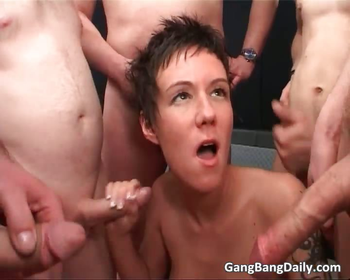 Porno Video of Short Haired Brunette Slut Is Into Gang