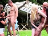 Outdoor british femdom tugging subs outdoor