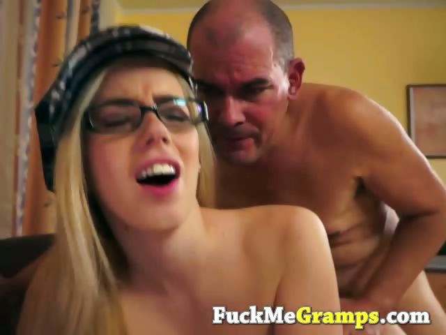 Porno Video of Horny Old Man Enjoys Blonde Teen