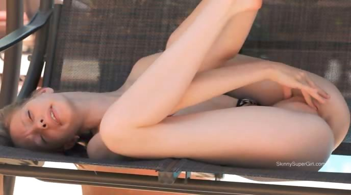Porn Tube of Skinny Teen Strip On The Swing