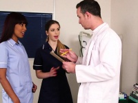 British nurse femdoms sharing subs cock | Porn-Update.com