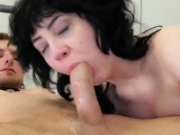 Slutty cutie was brought in bum asylum for uninhibited ther