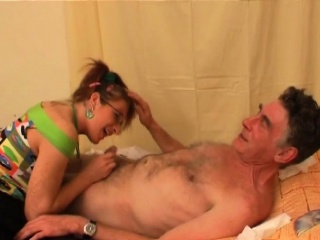 Teen Seductress Gets With Old Dude And Gives Him Irrumation