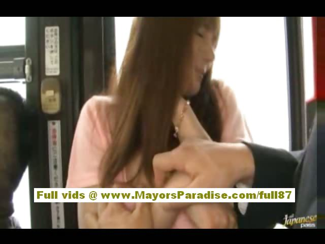Porn Tube of Rio Asian Teen Babe Getting Her Hairy Pussy Fondled On The Bus