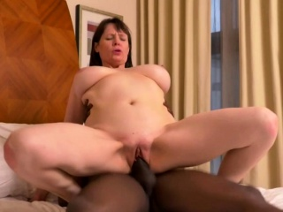 Busty Mature Lady Takes A Huge Black Dick
