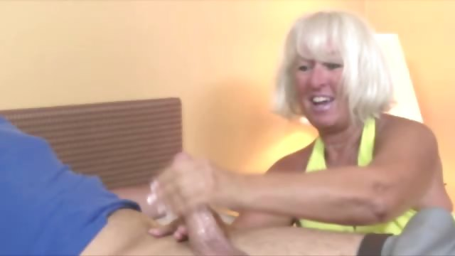 Porn Tube of Granny Gets Cumshot From Cock And Loves It