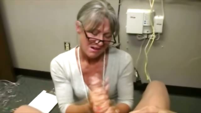 Porno Video of Granny Gets Cumshot From Lucky Guy And Really Loves It
