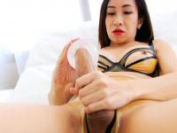 Exciting tranny fucks cock with fleshlight then masturbates | Porn-Update.com
