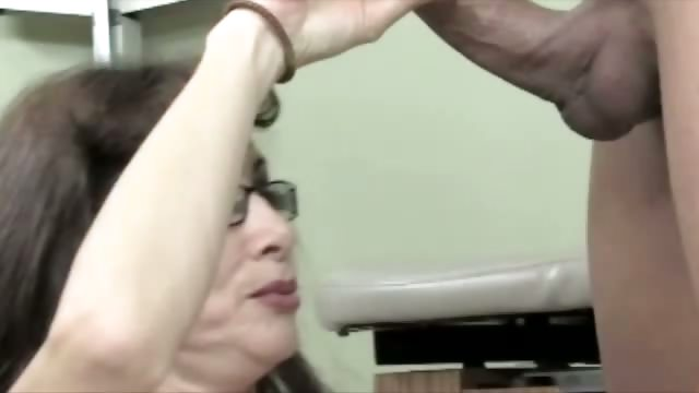 Porn Tube of Granny Doctor Shows How They Collected A Sperm Sample In The Old Days