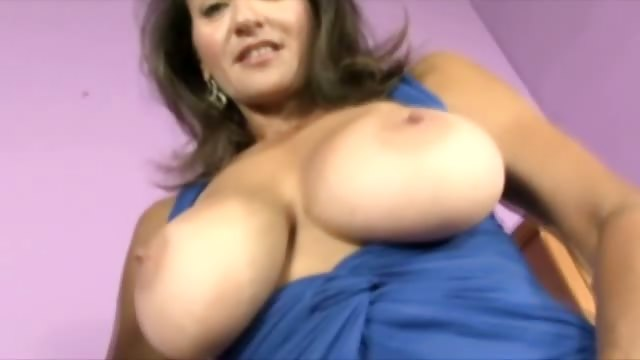 Porno Video of Busty Milf Shows Off Hairy Pussy While Tuggin Cock