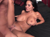 Hot big boob milf takes on a giant cock