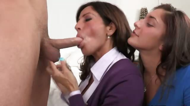 Porno Video of Mommy And Daughter Handling A Cock