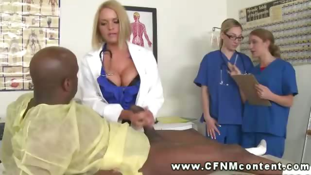 Porno Video of Female Doctor Demandes Nurses To Jerk