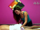 Cute asian chick gives the best massages in the world