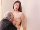 Sensual schoolgirl was tempted and fucked by her senior ment