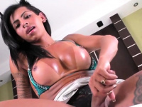 Latin tgirl Isabelly Ferreira Is Eager To jack-off | Porn-Update.com