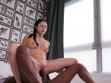 Teen rides bbc and gapes