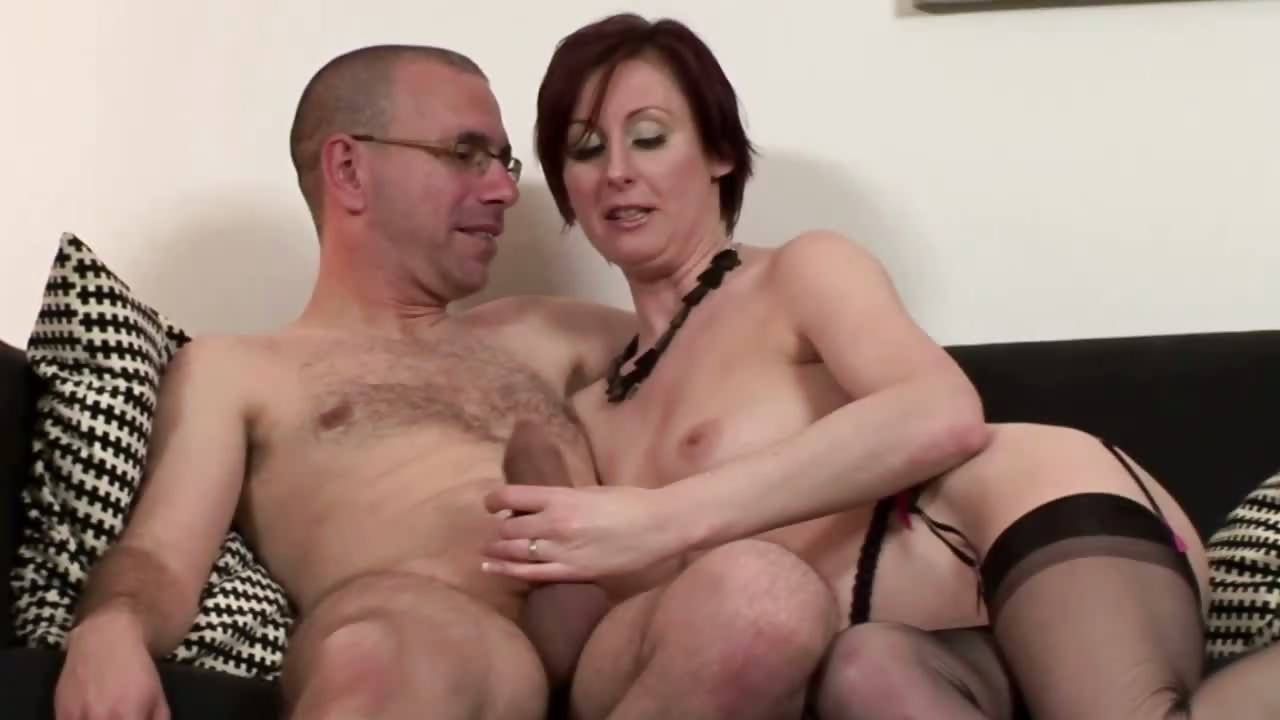 Porn Tube of Mature Stockings Fucking And Sucking For Lucky Guy