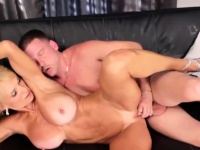 Busty blonde gets the girl old pussy banged | Porn-Update.com