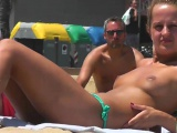 Close-Up Topless Amateur Big Tits Voyeur Video