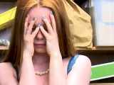 Redhead teen thief didnt want to cooperate and got fucked