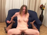 Black pecker destroys a hairy cunt