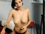 Sweet Brunette With Natural Big Tits Masturbating To Closeup