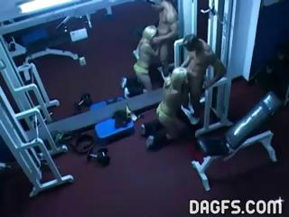 Porn Tube of Horny Folks Fucking At The Gym