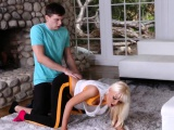Mother boss's daughter stockings Stretching Your Stepmom