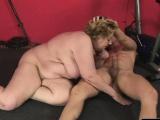 Big load of dick bangs a fat babe