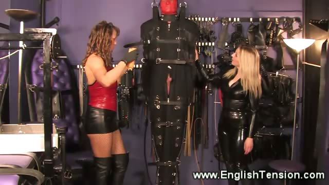 Porno Video of Dominas Encase Sub For Suspension And Cbt