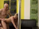 Teen ass fucked in stockings and hot blonde toying her meaty