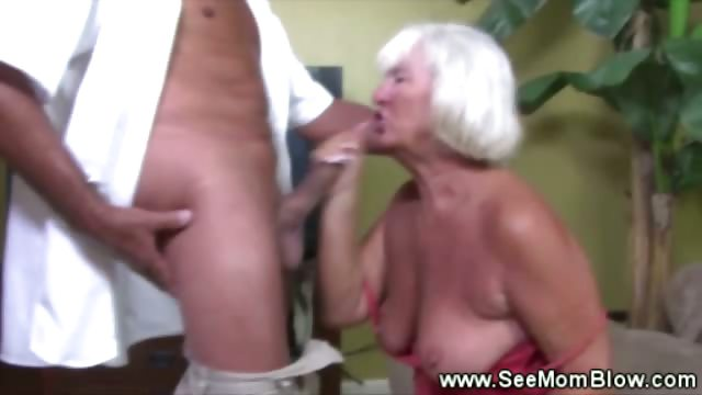 Porno Video of Granny Goes Down On Cock Like In The Good Old Days