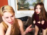 Hot Blonde Lesbian Fingers A Teen Brunette