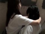 Asian les rubbing tits