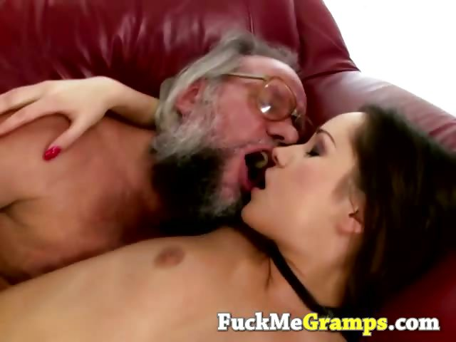 Porn Tube of Hairy Old Man Fucks Smooth Teen