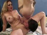 Busty MILF with big tits enjoys hardcore bondage
