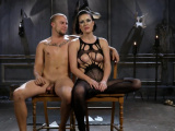 Horny mistress loves bondage with her slave