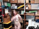 Amateur thief wipes cum
