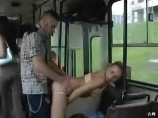 Sex Movie of So Horny They Fuck On The Public Bus!