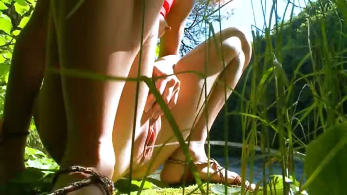 Sex Movie of Petite Russian Teenie Peeing In A Forest
