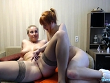 Amateur BBW blonde and redhead lesbians posing on webcam